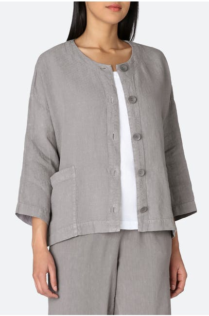 Photo of Linen Dobby Boxy Jacket
