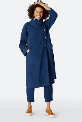 Photo of Textured Linen Duster Coat