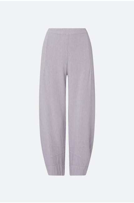 Photo of Textured Linen Cropped Trouser