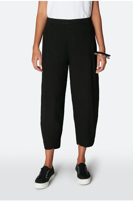 Textured Linen Crop Bubble Trouser
