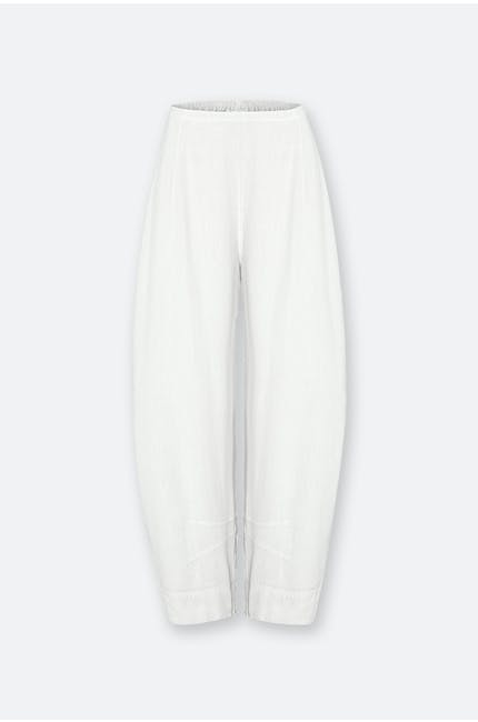 Photo of Textured Linen Crop Bubble Trouser
