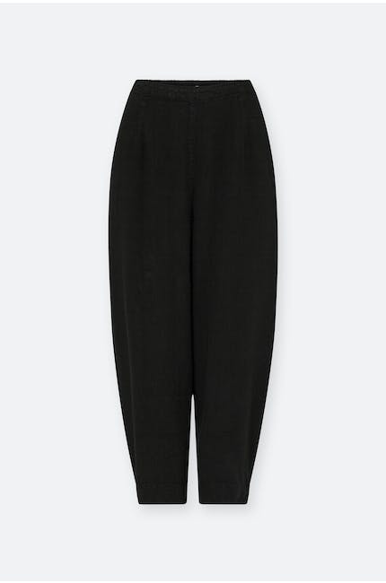 Textured Linen Crop Bubble Pant