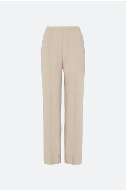 Natural Linen Slim Leg Trouser