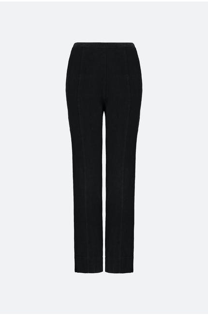 Textured Linen Slim Leg Trouser