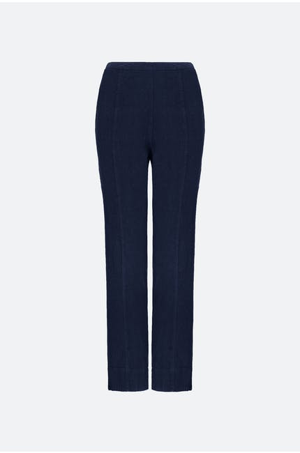 Photo of Textured Linen Slim Leg Trouser