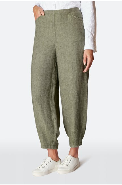 Linen Twill Bubble Trouser
