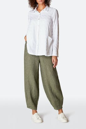 Photo of Linen Twill Bubble Trouser