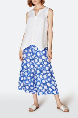 Photo of Graphic Spot Linen Trouser