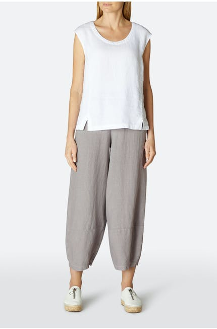 Linen Dobby Bubble Trouser