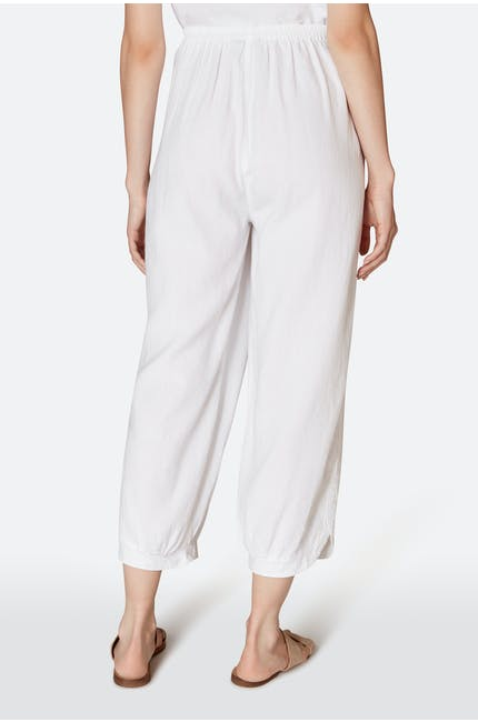Linen Blend Bubble Trouser