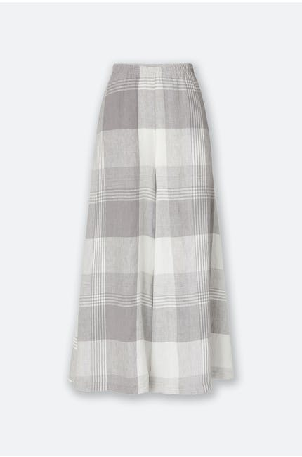 Giant Check Divided Skirt