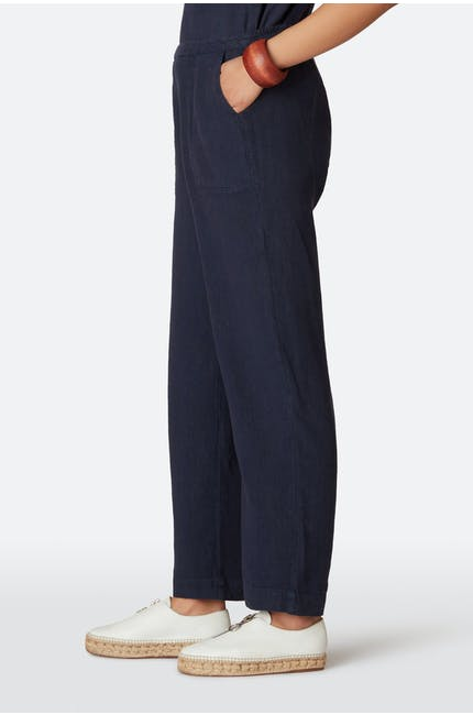 Textured Linen Slim Trouser