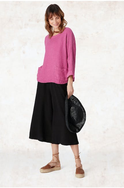 Photo of Textured Linen Culottes