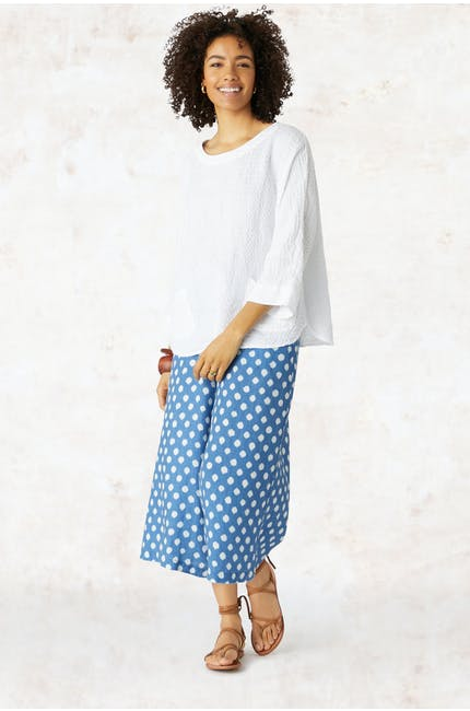 Photo of Ikat Spot Linen Culottes