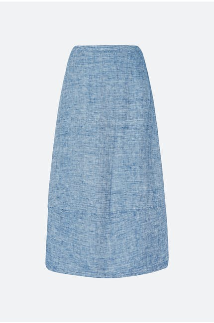 Photo of Double Faced Linen Skirt