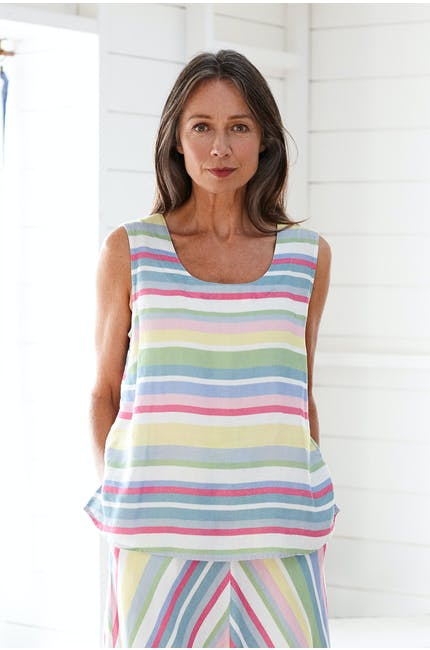 Photo of Rainbow Stripe Linen Vest