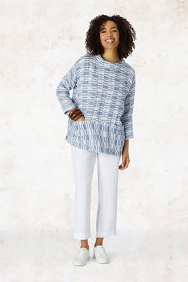 Photo of Irregular Check Linen Boxy Top