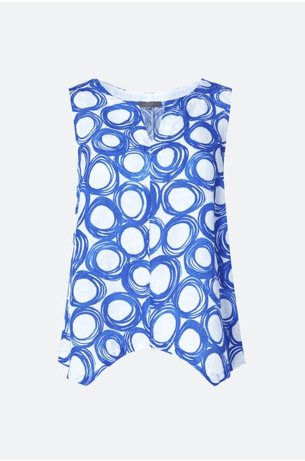Photo of Graphic Spot Linen Vest