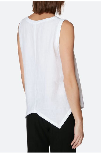 Organza Linen Point Hem Vest