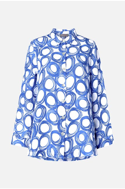 Graphic Spot Linen Shirt