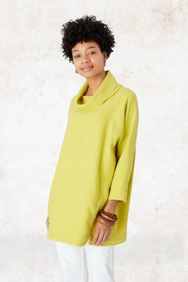 Photo of Textured Linen Cowl Tunic