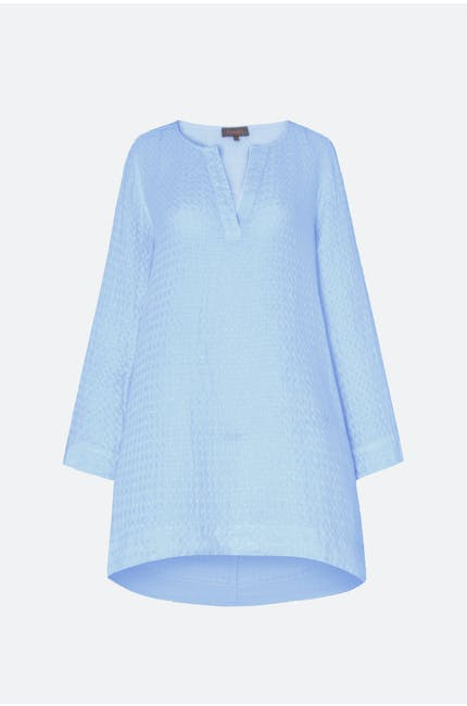 Photo of Waffle Linen Flared Tunic