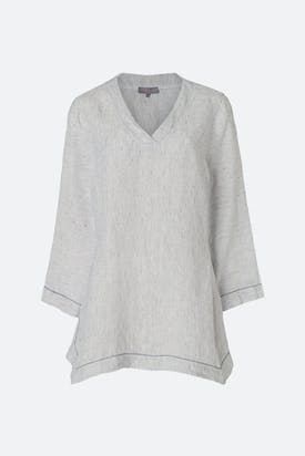 Photo of Ticking Stripe Linen Tunic