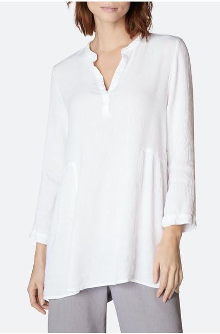 Light Crinkle Linen Tunic