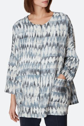 Photo of Ikat Stripe Linen Shirt