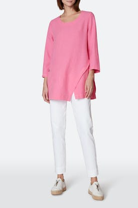 Photo of Linen Asymmetric Seam Tunic
