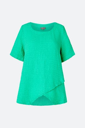 Photo of Waffle Linen Asymmetric Top