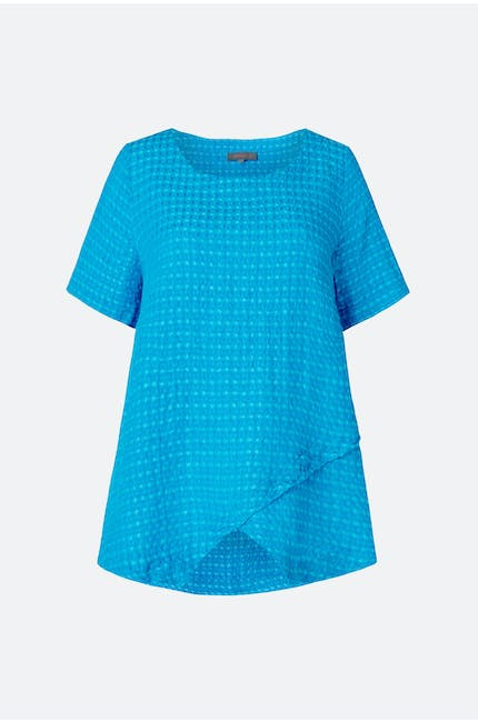 Twisted Waffle Linen Top