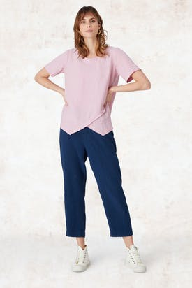 Photo of Linen Asymmetric Top
