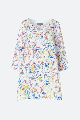 Photo of Forties Floral Print Linen Tunic