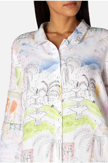 Photo of Linen Riviera Print Shirt