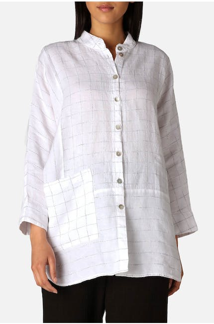 Patched Twisted Yarn Shirt