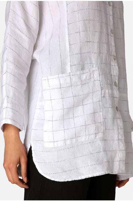 Photo of Patched Twisted Yarn Shirt