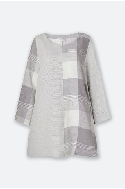 Giant Check Patched Tunic