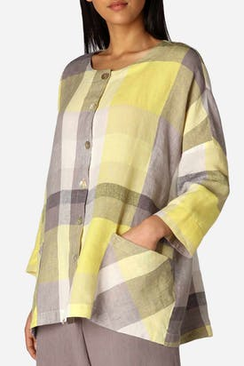 Photo of Madras Check Boxy Shirt
