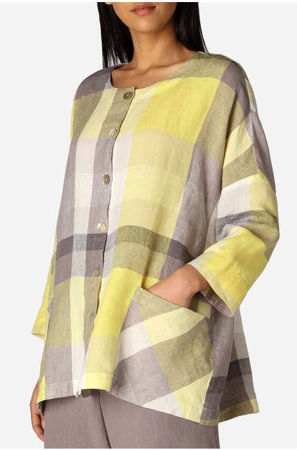 Madras Check Boxy Shirt
