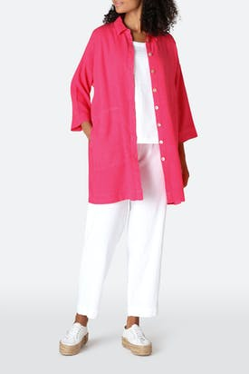 Photo of Textured Linen Long Shirt