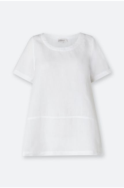 Photo of Organza Linen Step Hem Top