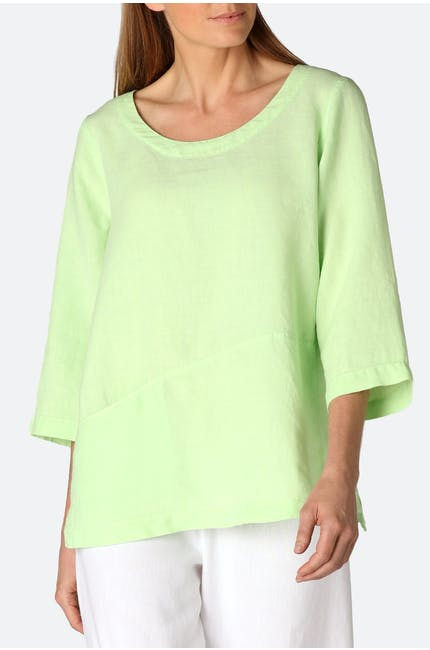 Photo of Linen Step Hem Top