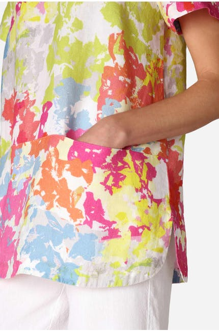 Photo of Paint Splatter Linen Top