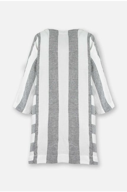 Chambray Stripe Linen Top
