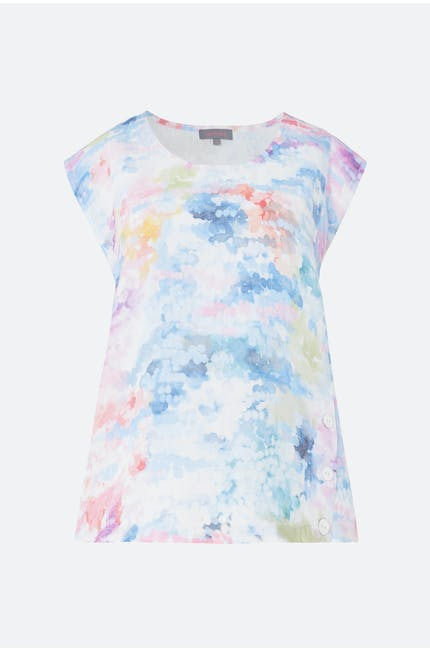 Dapple Print Linen Top
