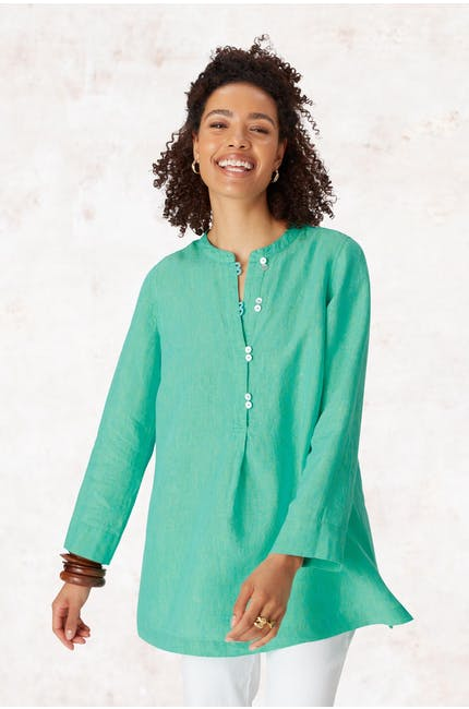 Photo of Cross Dye Linen Tunic