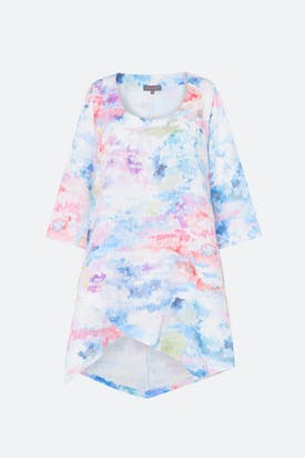Photo of Dapple Print Linen Tunic