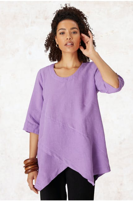 Photo of Organza Linen Asymmetric Top