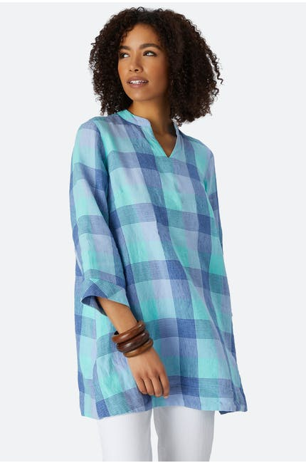 Photo of Marine Check Linen Tunic